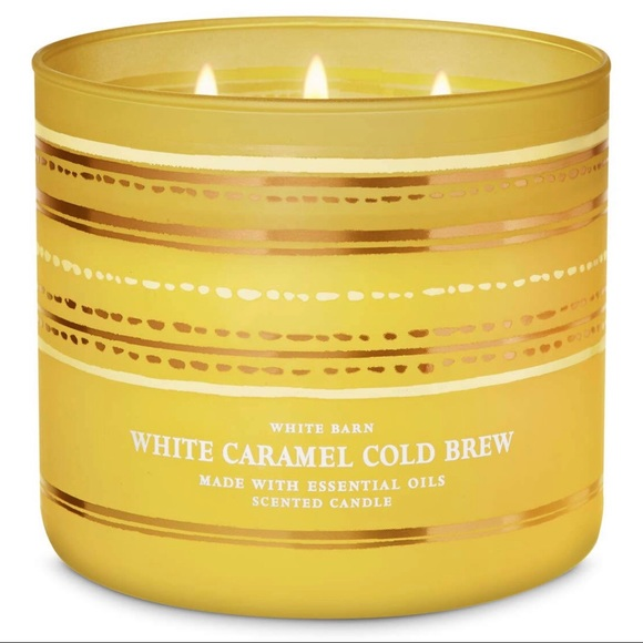 Bath & Body White Caramel Cold Brew 3 Wick Candle